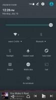 Notification area is vanilla Android - Sony Xperia XA Ultra review