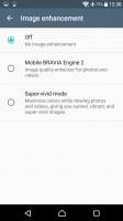 Screen settings - Sony Xperia XA Ultra review