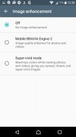 Screen settings - Sony Xperia XA review