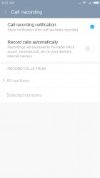 Call recording - Xiaomi Redmi Note 4 review