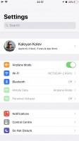 Settings - Apple iPhone 8 Plus review