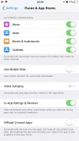 Offloading settings - Apple iPhone 8 Plus review