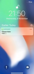 Notification Center - Apple iPhone X review