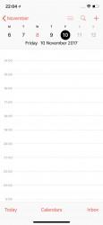 Calendar - Apple iPhone X review