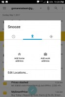 Snoozing a Hub item: by Wi-Fi network - Blackberry Keyone review
