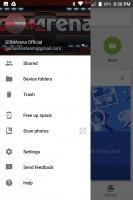 Google Photos: Menu - Blackberry Keyone review