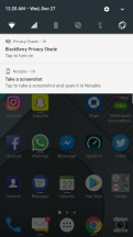 Notable persistent notification - BlackBerry Motion review