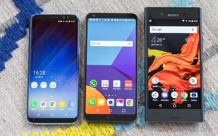 LG G6 vs  Galaxy S8 vs  Xperia XZ Premium: Three's a company