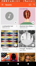 Google Play Music: Recents - Google Pixel 2 review