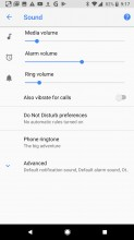 Sound settings - Google Pixel 2 review
