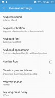 Some TouchPal settings - HTC U11 review