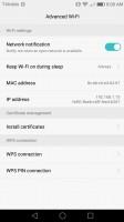 Advanced Wi-Fi settings - Huawei Honor 6x review