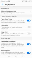 Fingerprint settings - Honor 8 Pro review