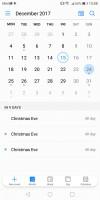 calendar - Huawei Mate 10 Lite review