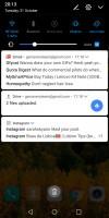 Notification shade - Huawei Mate 10 Pro review