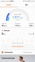 Health app - Huawei Mate 10 review