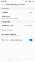 Functional lockscreen - Huawei P10 Lite review
