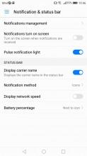 Status bar tweaks - Huawei P10 Lite review