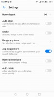 Layout settings - Huawei P10 Plus review
