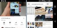 Multi-window in landscape - LG G6 review