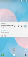 The Now playing interface: On the lockscreen - LG G6 review