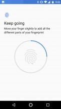 Setting up the fingerprint reader - Motorola Moto X4 review