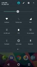 Quick settings - Motorola Moto X4 review