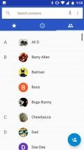 Dialer: Contacts - Motorola Moto X4 review