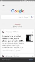 Google Now panel - Nokia 6 review