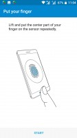 Setting up a fingerprint - Nokia 6 review
