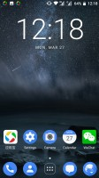 Homescreen in two-layer mode - Nokia 6 review