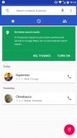 Call log - Nokia 8 review