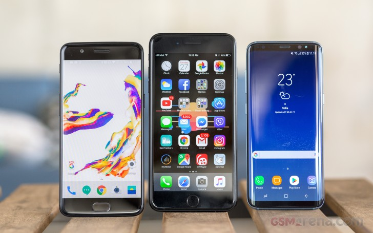 OnePlus 5 vs. iPhone 7 Plus vs. Samsung Galaxy S8