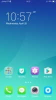 The homescreen houses all installed apps - Oppo F3 Plus review