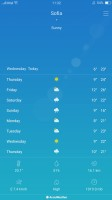 The Weather app is powered by AccuWeather - Oppo F3 Plus review