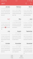 The Calendar app is a carbon copy of the iOS calenda - Oppo F3 Plus review