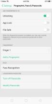 Setting up the fingerprint reader - Oppo F5 review