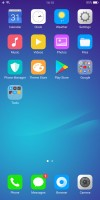 The homescreen houses all installed apps - Oppo R11s review