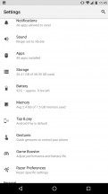Settings menu - Razer Phone review