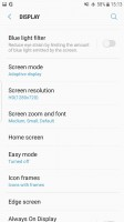 Display resolution setting - Samsung Galaxy S7 Edge Nougat review