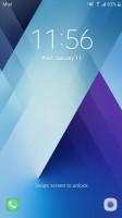 Lockscreen: plain - Samsung Galaxy A5 (2017) review