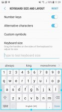 Samsung keyboard - Samsung Galaxy J5 (2017) review