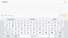Samsung keyboard - Samsung Galaxy J7 (2017) review