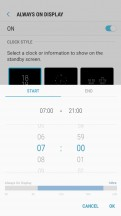 Always On Display - Samsung Galaxy J7 Pro review