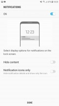 Fingerprint settings - Samsung Galaxy J7 Pro review