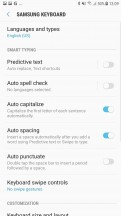 Keyboard settings - Samsung Galaxy J7 Pro review