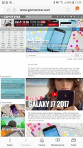 Samsung's Internet browser - Samsung Galaxy J7 Pro review