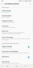 Screen lock settings - Samsung Galaxy Note8 review