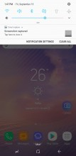 Notification shade: Slider on first pull - Samsung Galaxy Note8 review