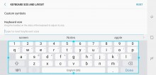 Keyboard size: Largest in landscape - Samsung Galaxy Note8 review